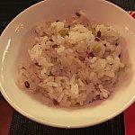 青大豆と赤米のご飯