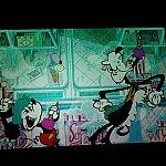 映写室で流れていたアニメーション。カリフォルニアでは「ミッキーマウス!」のようですね。