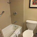 シャワーとトイレ。水圧・排水は問題なし。