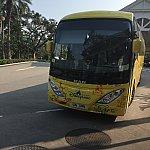 ランドホテルからパークに向かう時に乗ったバスです
