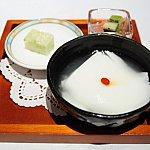 パールブーケランチのデザートは杏仁豆腐を選びました。