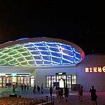 夜のディズニー駅