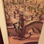 廊下絵② キャラ拡大ミッキーはラクダの乗り方も上手なんだろな〜