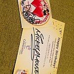 ミッキーからのお手紙と、バースデーシール!シールにはスティッチが☆