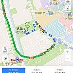 トイストーリーホテル➡️申迪西路➡️迪士尼大道➡️沪芦高速➡️迎宾高速 S1➡️上海浦東空港T1 (トイストーリーホテル付近道路拡大図)。