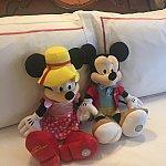 ミッキーとミニーのぬいぐるみ付きでお部屋がかわいいです!
