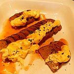 ミートローフエッグマヨネーズ焼き!これも美味しかったな〜!卵とマヨネーズを和えたソースが美味しい!