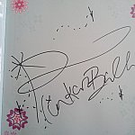 素敵なサインをもらいました。