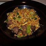 牛フィレとアスパラガスのXO醤炒飯ちょうどよい味付けとお肉の柔らかさが良かったです!