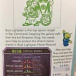 Buzz Lightyear Planet Rescueのスタンプ!アトラクションのスコアを書く欄があります♪