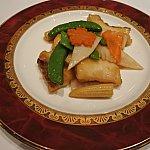 白身魚と野菜の炒め