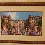 たぶん、どの部屋にもあるランドホテルの絵!備え付けの絵葉書にも。