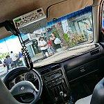 先ほどのカエルくんのお店の前にはタクシーがたくさん止まっています。タクシーでチャンカナブ国立公園へ!ちなみにメーターはありません。片道10~15ドルが相場だと思います。これより高かったら、前来た時はもっと安かったぞ!と言うなどして応戦するか、違うタクシーにしましょう(笑)