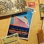 他にもこのポストカードの船、どこかで見覚えが・・・どこにあるかぜひ探してみてください😁