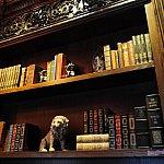 店内奥の書斎のような落ち着いたスペース。