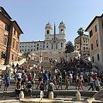 「ローマの休日」でお馴染みのスペイン広場!