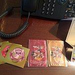 ホテル内ショップで買物したら、抽選出来て貰ったカードケース