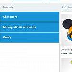 試しにに「キャラクター」「ミッキー&フレンズ」「グーフィー」で検索してみました。すると86アイテム見つかりました。