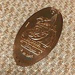 ビックサンダーマウンテンのスーベニアメダル。