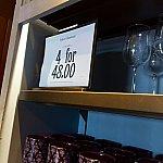 グラス系は4点で$48です。