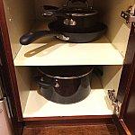 フライパンから深鍋まで数種類のお鍋類がありがたい!