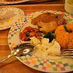 チキンも野菜も最高においしい!