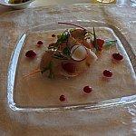 平日限定パスタランチの前菜カンパチのカルパッチョ