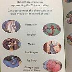 次のページには十二支のキャラクターがどの作品に出ているかクイズがあります♪