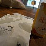 シーフードサンドイッチとオレンジジュースにしました♪