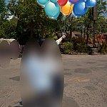 ミッキー風船のマジックフォト