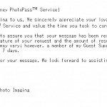 こちらが「メールが届きましたよ」っていう確認メール。ちゃんとディズニーにメールが送られたことを確認できます。
