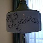 ランプにまでイラストが!