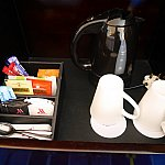 無料のコーヒーお茶セット。