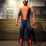 棒立ちのスパイダーマン。「あんた、クールだよ!」って呼びかけても棒立ち。ポージングしてよぉ。英語が通じないのかも。