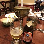ラプンツェルのプラスチック制のグラス。柄は微妙。一緒に写ってるビールは無関係です