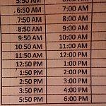 ホテルからの時刻表