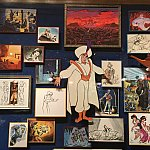 壁中にスケッチが‼︎貴重な展示品が盛りだくさん‼︎