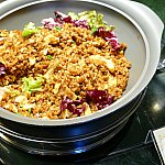 黒炒飯なるもの。お米がパラパラ〜美味しすぎです!!