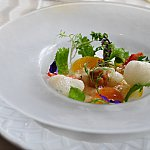 【前菜1】イカが柔らかくて美味しかったです!ウニもしっかりあってさらっといただけました。