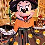 主催者のミニーちゃんはかわいい魔女コスチューム!