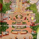 パーク入って花壇越えて右手にあるアートオブアニメーションと書かれた建物が年パス保持者向けのセンターになってます。黄色の☆マークのところです!