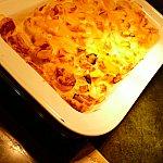 ポテトとパンプキンのグラタン!子供っぽいメニューが結局一番美味しいんですよね〜!