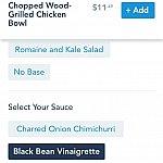 """続けてソースを選びます。僕はとっても塩辛いブラックビーンズソースを選んでしまいました。ソースは必要なければ""""NO SAUCE""""も選べます。"""
