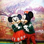ミッキーとミニーがキス!