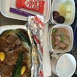 機内食。キットカットには笑いました。