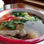 紅焼牛肉面(Wagyu Beef Noodle Soup)。肉うどんって感じのメニューです。お肉たっぷり。