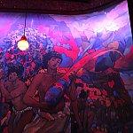 お店の中の雰囲気はとってもおしゃれです。壁の絵にはディズニーらしさは無くて、ハワイ感が強かったです。