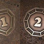 足元の座席番号がダイヤになっていて、それぞれデザインが違います。
