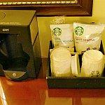 お部屋でスターバックスのコーヒーが飲めちゃいます♪