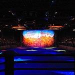 細長い会場の構成はディズニー・オン・アイスのイメージに近いかも。